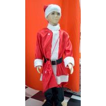 Fantasia Papai Noel Infantil Luxo Importada