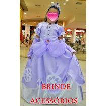 Vestido Princesa Sofia Fantasia Princesa Sofia -princesinha