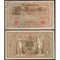 Alemanha 1000 Marcos 1910 P. 44b S/fe Cédula - Tchequito