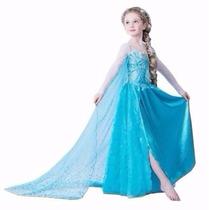 Vestido Fantasia Frozen Infantil Elsa Pronta Entrega !