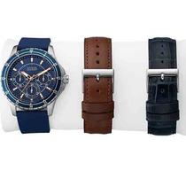Kit Relógio Guess Masculino Troca Pulseiras 92604g0gbnu1