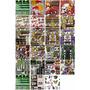 Pliegos De Sticker Adhesivo Monster Rockstar Redbull Moto