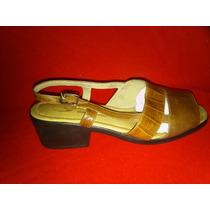 Zapato Sandalia Cuero San Crispino. 40