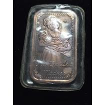Medalla Lingote Día De Las Madres Plata Pura Ley 0.999