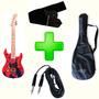Guitarra Infantil Homem Aranha + Capa + Correia + Cabo -loja
