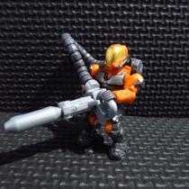 Halo Wars Mega Bloks Minifigura Lanzallamas Unsc Naranja
