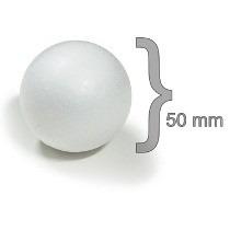 Bola Isopor 50mm Para Artesanato Pacote 50 Unidades