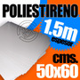 Lamina Plastica Pvc Pai 50x60 Blanca