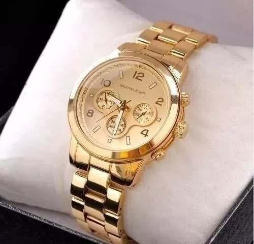 4975ecfe6b4 Relógio Feminino Mk Dourado + Promoção Kit Semijoia - R  59