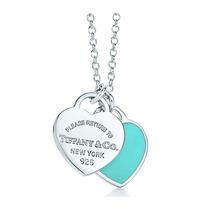 Collar Doble Placa Estilo Corazón Tiffany & Co. C/ Caja, Y +