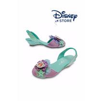 Zapatos Nenas Disney Store Originales Usa Princesa Ariel!