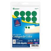 Etiqueta Removible Circular Verde Avery 3-/4 (1.9 Cm) Diame