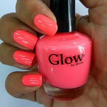 Esmalte Coral Fluo. Marca Glow
