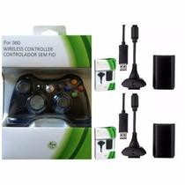 Controle Xbox 360 Sem Fio + Carregado+ 2 Baterias 10.000mah