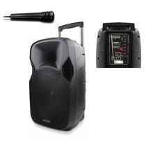 Caixa De Som Portátil Grande Amplificada Microfone Controle