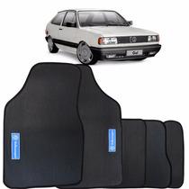 Tapete Pvc Volkswagen Gol Quadrado 1981 À 1995 Preto 5 Peças
