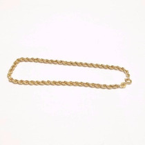Pulseira Malha Cordão Baiano Ouro 18k-750 + Certificado