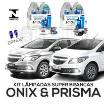 Kit Lâmpadas Super Brancas Tech One Onix Novo Prisma H4 H27
