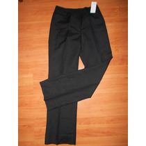 Pantalon De Lino De Dama Color Negro Talla 28