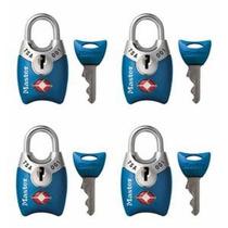 Master Lock 4689q Tsa Aceptados Candados Con Claves 4-pack (