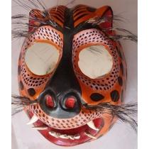 Tigre Mascara De Madera Danzas Regionales Guerrero