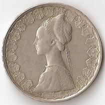 Italia, 500 Lire, 1960. Plata. Vf / Vf+