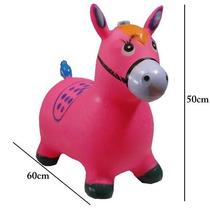 Cavalo De Borracha Rosa Pupa Pula Brinquedo Para Criança