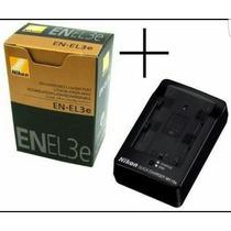 Bateria Nikon Original En-el3e D50 D70 D80 D90 +carregador