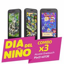 Celular Alcatel Pixi3 (4) 8mp Pack X3 Liberado *día Del Niño