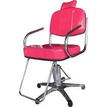 Poltrona Cabeleireiro,pratic, Cadeira Corte, Base Nylon