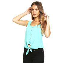 Anna Flynn - Blusa Con Botones Al Frente - Verde - T9526