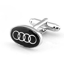 Mancuernillas Audi Logo Automovil Plateadas Camisa Traje