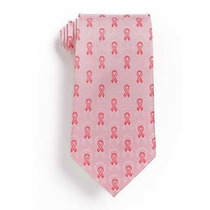 Corbata Breast Cancer Awareness Lazos De Seda Rosa
