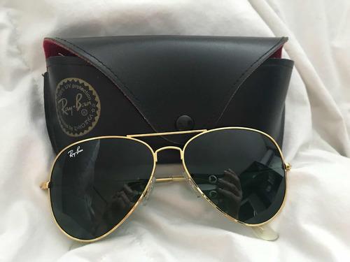 e114d478d35d9 Óculos Ray Ban Aviador Original Usado - R  350,00 em Mercado Livre