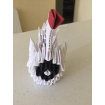 Origami 3d - Cisne Branco Pequeno