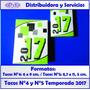 Almanaques 2017, Tacos N°4 X 1 Unidad