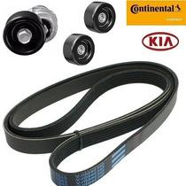 Kit Correia Alternador Acess. Tensor Kia Carens 2.0 16v