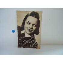 Cartão Postal Antigo - Foto Dedicada (preto E Branco)