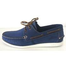 Mocassim Samello 755 - Azul - Delabela Calçados