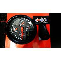 Conta Giro Type R Com Shift Light 7 Cores Fundo Preto