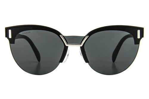 0fc2ed9a16d0e Óculos De Sol Prada Pr 04us 1ab5s0 43 Preto - R  1.240,00 em Mercado ...