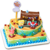 Bob Esponja - Decoración De La Torta Del Decoset Firma De K