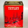 Caja Té Inglés Tetley,11x9x9 Cm. Papel Impreso Vintage,buena