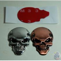Adesivo Caveira De Metal Tuning Emblema Novo Mad Max Icon