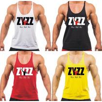 Combo 4x Camisetas Regatas Super Cavada Musculação Zyzz Pain
