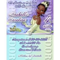Tarjetas De Invitacion La Princesa Y El Sapo - Epvendedor