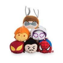 Marvel Spiderman Coleccion 6 Mini Tsum Tsum De Felpa Disney