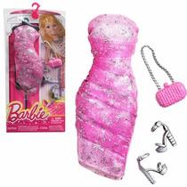 Roupa Fashion Barbie Original Mattel Vestido Rosa Novo Cfx98