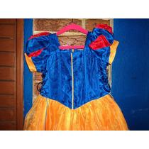 Vestido Niña Disfraz Blancanieves