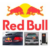Adesivos Red Bull 2 Peças 24,5cmx15cm Para Carros Veículos